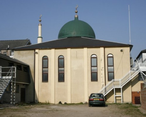 this is one of the back view of the Mosque car park
